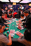 Players bag their chips at the conclusion of play.