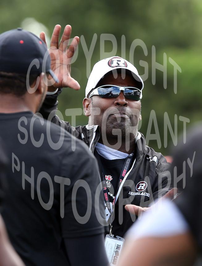 Leroy Blugh Ottawa RedBlacks coach 2014. Photo Scott Grant