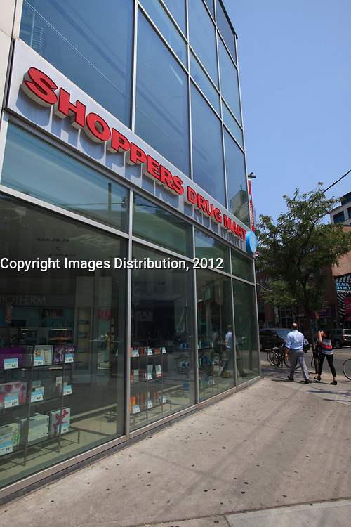 Toronto (ON) CANADA - July 2012 - Queen street west - Shoppers Drug mart