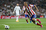 Atletico del Madrid´s Joao Miranda during quarterfinal second leg Champions League soccer match at Santiago Bernabeu stadium in Madrid, Spain. April 22, 2015. (ALTERPHOTOS/Victor Blanco)