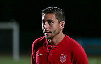 Couva, Trinidad & Tobago - Tuesday Oct. 10, 2017: Alejandro Bedoya during a 2018 FIFA World Cup Qualifier between the men's national teams of the United States (USA) and Trinidad & Tobago (TRI) at Ato Boldon Stadium.