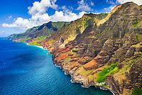 Kalalau Beach, Kalalau Valley, Na Pali Coast, Kauai, Hawaii, USA, Pacific Ocean