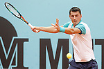 Bernard Tomic during Madrid Open Tennis 2015 match.May, 4, 2015.(ALTERPHOTOS/Acero)