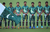 The Pakistan team lines up before during the international men's hockey match between the NZ Black Sticks and Pakistan at National Hockey Stadium in Wellington, New Zealand on Monday, 20 March 2017. Photo: Dave Lintott / lintottphoto.co.nz