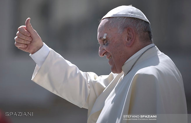 Pope Francis during of a weekly general audience at St Peter's square in Vatican.September 13, 2017