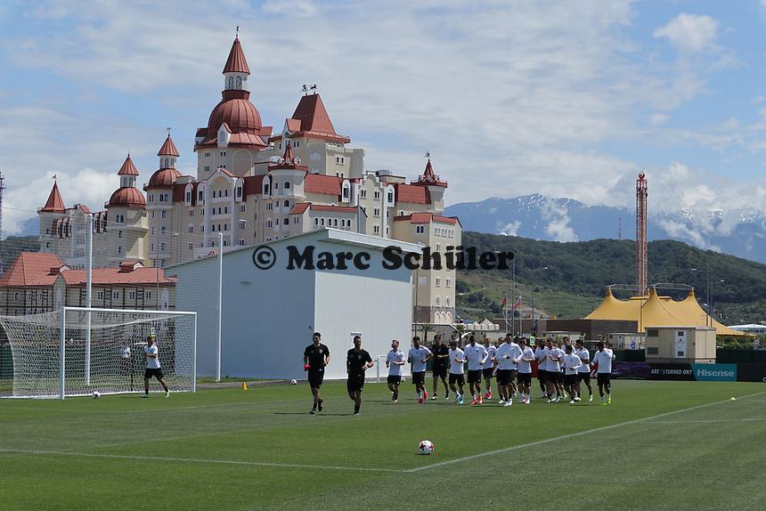 Training der Deutschen Nationalmannschaft  - 16.06.2017: Training der Nationalmannschaft, Fisht Stadium Sotschi