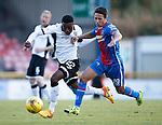 Inverness Caledonian Thistle v St Johnstone...24.10.15  SPFL  Tulloch Stadium, Inverness<br /> Darnell Fisher and Danny Williams<br /> Picture by Graeme Hart.<br /> Copyright Perthshire Picture Agency<br /> Tel: 01738 623350  Mobile: 07990 594431