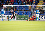 St Johnstone v Partick Thistle…08.08.17… McDiarmid Park.. Betfred Cup<br />Steven Lawless scores from the penalty spot<br />Picture by Graeme Hart.<br />Copyright Perthshire Picture Agency<br />Tel: 01738 623350  Mobile: 07990 594431