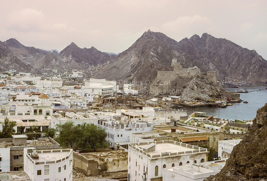 Oman, 1972.  View of Muscat.
