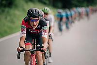 Michael Schar (SUI/BMC) piloting the peloton<br /> <br /> Stage 4: Gansingen > Gstaad (189km)<br /> 82nd Tour de Suisse 2018 (2.UWT)