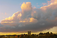 Dramatic sky with clouds at sunset Orford Suffolk