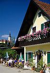 Austria, Styria, Kitzeck: Heuriger at Sausal Wine Route