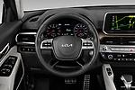 Car pictures of steering wheel view of a 2022 KIA Telluride SX-AWD 5 Door suv Steering Wheel