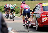 2nd July 2021; Le Creusot, France;  CAVENDISH Mark (GBR) of DECEUNINCK - QUICK-STEP gestures to his support team during stage 7 of the 108th edition of the 2021 Tour de France cycling race, a stage of 249,1 kms between Vierzon and Le Creusot