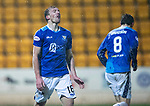 St Johnstone v Motherwell…15.12.18…   McDiarmid Park    SPFL<br />A frustrated David McMillan after heading straight at the keeper<br />Picture by Graeme Hart. <br />Copyright Perthshire Picture Agency<br />Tel: 01738 623350  Mobile: 07990 594431