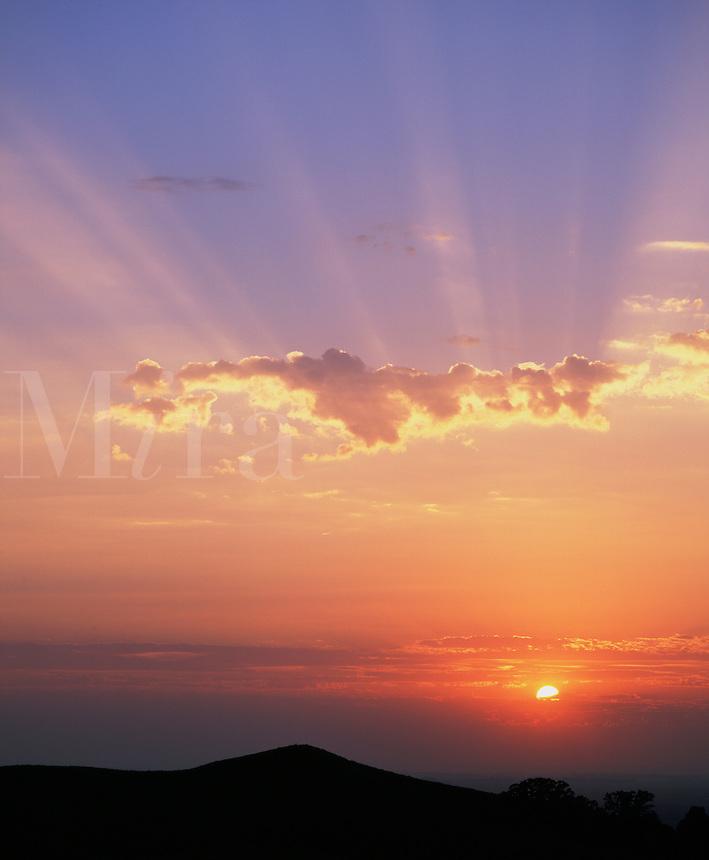 Sunrise over Loess Hills Wildlife Area, Monona County, Iowa