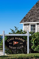 Chatham Harbor Yacht Club, Chatham, Cape Cod, Massachusetts, USA.