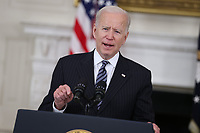 APR 06 Joe Biden at The White House speaks on vaccinations