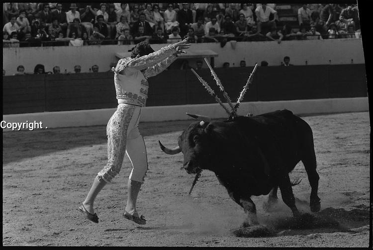 20 Juin 1971. Vue de la corrida de Falcon dans les arènes de Toulouse.