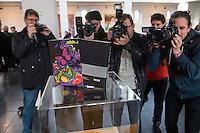 """Schmuckschuber zur Lutherbibel 2017, Praesentation mit Harald Gloeoeckler am Mittwoch den 23. November 29016 in Berlin.<br /> Der Designer Harald Gloeoeckler, hat fuer die Deutschen Bibelgesellschaft einen Schmuckschuber zur Lutherbibel 2017 gestaltet.<br /> Die Lutherbibel 2017 wird gemeinsam von der Evangelischen Kirche in Deutschland (EKD) und der Deutschen Bibelgesellschaft (DBG) herausgegeben. Sie erscheint zum 500. Reformationsjubilaeum. Die Lutherbibel 2017 """"Edition Harald Gloeoeckler"""" ist ab 12. Dezember 2016 erhaeltlich.<br /> 23.11.2016, Berlin<br /> Copyright: Christian-Ditsch.de<br /> [Inhaltsveraendernde Manipulation des Fotos nur nach ausdruecklicher Genehmigung des Fotografen. Vereinbarungen ueber Abtretung von Persoenlichkeitsrechten/Model Release der abgebildeten Person/Personen liegen nicht vor. NO MODEL RELEASE! Nur fuer Redaktionelle Zwecke. Don't publish without copyright Christian-Ditsch.de, Veroeffentlichung nur mit Fotografennennung, sowie gegen Honorar, MwSt. und Beleg. Konto: I N G - D i B a, IBAN DE58500105175400192269, BIC INGDDEFFXXX, Kontakt: post@christian-ditsch.de<br /> Bei der Bearbeitung der Dateiinformationen darf die Urheberkennzeichnung in den EXIF- und  IPTC-Daten nicht entfernt werden, diese sind in digitalen Medien nach §95c UrhG rechtlich geschuetzt. Der Urhebervermerk wird gemaess §13 UrhG verlangt.]"""