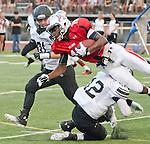 Ayala quarterback Reggie Smith dives for extra yardage against El Dorado.