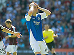 Hearts v St Johnstone...04.08.12.Liam Craig holds his head after a bad miss.Picture by Graeme Hart..Copyright Perthshire Picture Agency.Tel: 01738 623350  Mobile: 07990 594431