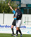 07/08/2010   Copyright  Pic : James Stewart.sct_jsp010_falkirk_v_dunfermline  .::  MARK MILLAR GETS A RED CARD FOR A CHALLENGE ON WULLIE GIBSON ::  .James Stewart Photography 19 Carronlea Drive, Falkirk. FK2 8DN      Vat Reg No. 607 6932 25.Telephone      : +44 (0)1324 570291 .Mobile              : +44 (0)7721 416997.E-mail  :  jim@jspa.co.uk.If you require further information then contact Jim Stewart on any of the numbers above.........