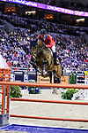 OMAHA, NEBRASKA - MAR 31: McLain Ward rides HH Azur during the FEI World Cup Jumping Final II at the CenturyLink Center on March 31, 2017 in Omaha, Nebraska. (Photo by Taylor Pence/Eclipse Sportswire/Getty Images)