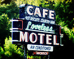 Loveless Cafe sign near Franklin, Tennessee.