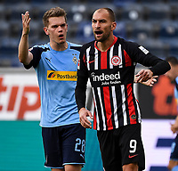 Matthias Ginter (Borussia Moenchengladbach), Bas Dost (Eintracht Frankfurt)<br /> <br /> - 16.05.2020, Fussball 1.Bundesliga, 26.Spieltag, Eintracht Frankfurt  - Borussia Moenchengladbach emspor, v.l. Stadionansicht / Ansicht / Arena / Stadion / Innenraum / Innen / Innenansicht / Videowall<br /> <br /> <br /> Foto: Jan Huebner/Pool VIA Marc Schüler/Sportpics.de<br /> <br /> Nur für journalistische Zwecke. Only for editorial use. (DFL/DFB REGULATIONS PROHIBIT ANY USE OF PHOTOGRAPHS as IMAGE SEQUENCES and/or QUASI-VIDEO)
