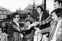Quebec Premier and Liberal premier Robert Bourassa during the quebec electoral campaign<br /> <br /> Photo : Boris Spremo - Toronto Star archives - AQP