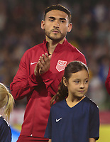 Carson, CA - Sunday January 28, 2018: Cristian Roldan during an international friendly between the men's national teams of the United States (USA) and Bosnia and Herzegovina (BIH) at the StubHub Center.
