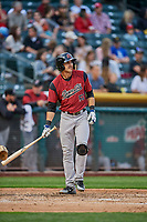 Chase d'Arnaud (51) of the Sacramento River Cats bats against the Salt Lake Bees at Smith's Ballpark on May 17, 2018 in Salt Lake City, Utah. Salt Lake defeated Sacramento 12-11. (Stephen Smith/Four Seam Images)