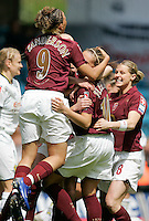 Arsenal vs Leeds United - Womens FA Cup Final at Millwall Football Club - 01/05/06 - Arsenal celebrate their opening goal - (Gavin Ellis 2006)