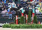 Nicola Wilson and Opposition Buzz of Great Britain compete in the final stadium jumping round of the FEI  World Eventing Championship at the Alltech World Equestrian Games in Lexington, Kentucky.