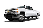 Stock pictures of low aggressive front three quarter view of 2016 Chevrolet Silverado-3500HD LT-Crew-SRW 4 Door Pickup Low Aggressive