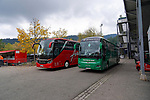 17.10.2020, Schwarzwald Stadion, Freiburg, GER, 1.FBL, SC Freiburg vs SV Werder Bremen<br /> <br /> im Bild / picture shows<br /> <br /> Werder Bus in Freiburg angekommen<br /> <br /> Foto © nordphoto / Bratic<br /> <br /> DFL REGULATIONS PROHIBIT ANY USE OF PHOTOGRAPHS AS IMAGE SEQUENCES AND/OR QUASI-VIDEO.