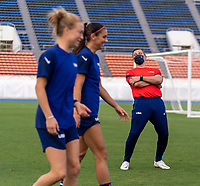 TOKYO, JAPAN - JULY 20: Vlatko Andonovski of the USWNT laughs during a training session at the practice fields on July 20, 2021 in Tokyo, Japan.