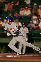 Matt Den Dekker #17 of the St. Lucie Mets during a game against the Daytona Cubs at Jackie Robinson Ballpark on May 25, 2011 in Daytona Beach, Florida. (Scott Jontes / Four Seam Images)