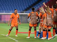 YOKOHAMA, JAPAN - JULY 30: Shanice van de Sanden #7 of the Netherlands celebrates a goal during a game between Netherlands and USWNT at International Stadium Yokohama on July 30, 2021 in Yokohama, Japan.
