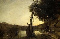 Europe/France/Midi-Pyrénées/31/Haute-Garonne/Toulouse: Musée des Augustins - Etoile du matin (J.B. Corot) 1864