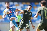 Fernando Llorente of Napoli and Bruno Martella of Brescia compete for the ball<br /> Napoli 29-9-2019 Stadio San Paolo <br /> Football Serie A 2019/2020 <br /> SSC Napoli - Brescia FC<br /> Photo Cesare Purini / Insidefoto
