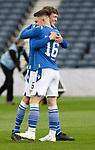 St Johnstone v Hibs…22.05.21  Scottish Cup Final Hampden Park<br />Murray Davidson and Glenn Middleton celebrate at full time<br />Picture by Graeme Hart.<br />Copyright Perthshire Picture Agency<br />Tel: 01738 623350  Mobile: 07990 594431