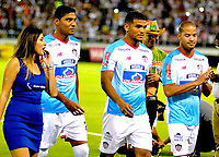 BARRANQUILLA – COLOMBIA – 17 – 01 - 2018: Luis Carlos Ruiz (Izq,) Rafael Perez (Cent.) y Alberto Rodriguez (Der.), durante presentación de nuevos jugadores del Atletico Junior, en la Liga Aguila I 2018, en el estadio Metropolitano Roberto Melendez, de la ciudad de Barranquilla. / Luis Carlos Ruiz (L) Rafael Perez (C) and Alberto Rodriguez (R), during the presentation of new players of Atletico Junior, in Liga Aguila I 2018, at the Roberto Melendez Metropolitan Stadium, in the city of Barranquilla. Photo: Alfonso Cervantes / Cont.