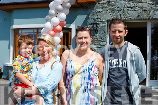 Cillian and Ramona Burchill, Emer Daly and Bobby Keogh at the  coffee morning in aid of the Pallative Care Tralee at their house inKilcummin on Monday