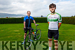 Mikey and Tom Moriarty at home in Kilcummin Castlegreogary and are going to do three 12 hour cycles at home for Irish Cancer Society and have so far raised €1,600.