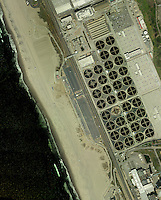 aerial photograph Hyperion Water Reclamation, Los Angeles Sanitation Department wastewater treatment plant, California