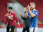 St Johnstone v St Mirren…27.10.18…   McDiarmid Park    SPFL<br />David Wotherspoon applauds the fans at full time<br />Picture by Graeme Hart. <br />Copyright Perthshire Picture Agency<br />Tel: 01738 623350  Mobile: 07990 594431