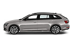 Car Driver side profile view of a 2019 Skoda Superb-Combi Sport-Line 5 Door Wagon Side View