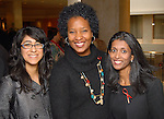 From left: Jennifer Garza, Karen Walrond and Priya Coffey at the World AIDS Day Luncheon benefitting AIDS Foundation Houston at the Four Seasons Hotel Tuesday Dec. 01,2009. (Dave Rossman/For the Chronicle)